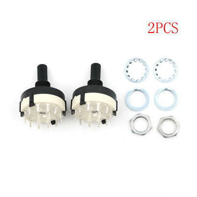 2pcs RS26 1 Pole Position 12 Selectable Band Rotary Channel Selector Switch DSUK