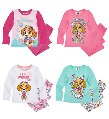 Girls Kids Official Licensed Paw Patrol Skye Long Sleeve Pyjamas PJs