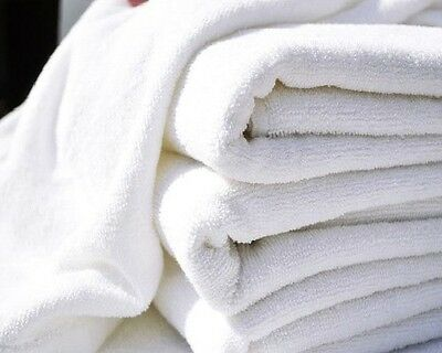 1 dozen white hair/bath towels 20x40 wholesale lot utility towels brand new !!