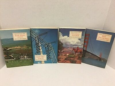 Lot of 4 VTG American Geographical Society Booklets W/Plates - Stickers VGC