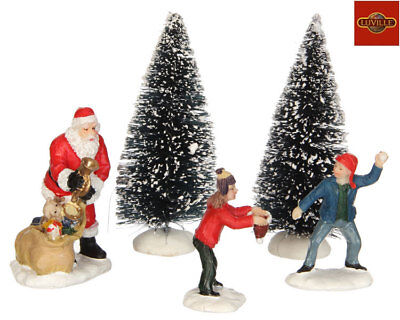Luville Playing With Santa, Set Of 5 1025892