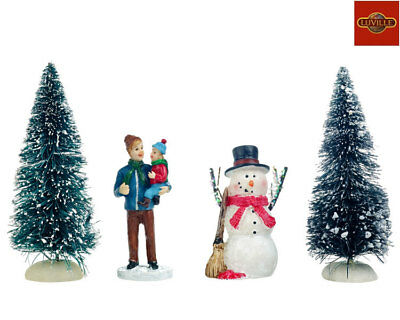 Luville Building A Snowman, Set Of 4 1025891