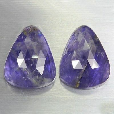 31.635 Ct Ultra Rare Best Grade Unheated Natural Huge Super Blue Iolite Nr! Pair