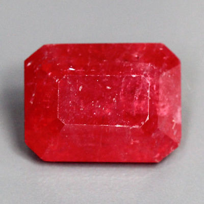 4.87 Cts_Amazing Antique Stone_100 % Natural Unheated Red Rhodonite_Emerald Cut