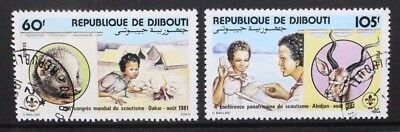 DJIBOUTI 1981 Scouts World Scouting Congress. Set of 2. Fine USED/CTO. SG820/821