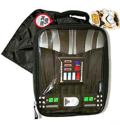 Star Wars Darth Vader W/ Cape School Lunch Cold Carry Bag New Tags Thermos Brand