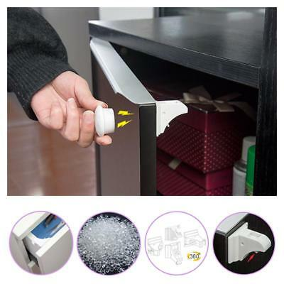 Safety Lock 16Pcs Cupboard Magnetic Locks Infant Baby Cabinet Drawer Child Doors