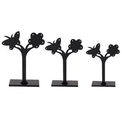 Jewelry Stand 3Pcs Butterfly Flower Detachable Earring Display Plastic Holders