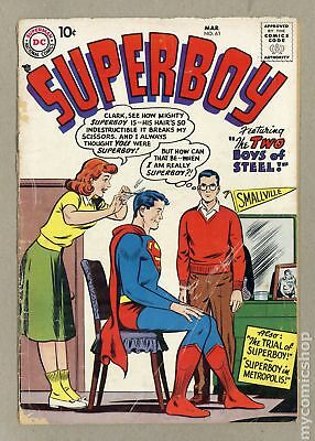 Superboy (1st Series DC) #63 1958 GD- 1.8