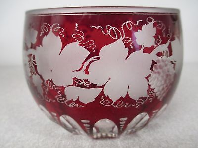 RARE 1880 Boston & Sandwich Ruby Red Stained Vintage Grape Series  Bowl