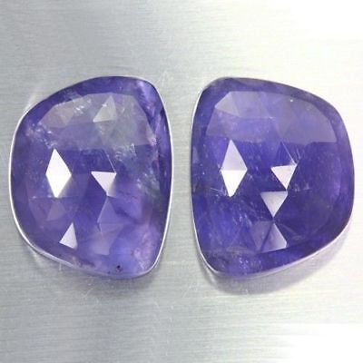 41.695 Ct Ultra Rare Best Grade Unheated Natural Huge Super Blue Iolite Nr! Pair