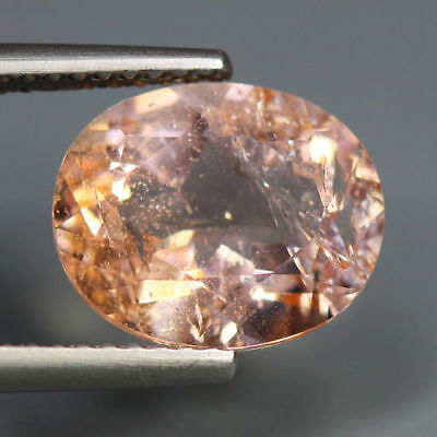 3.52 Cts_Extremely Stunning Gemstone_100 % Natural Morganite_Peach Pink Emerald