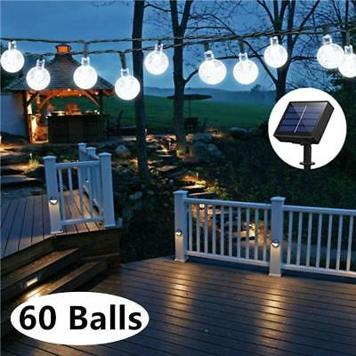 LED Globe 33Feet 60Crystal Balls Battery Operated String Light Remote Controller