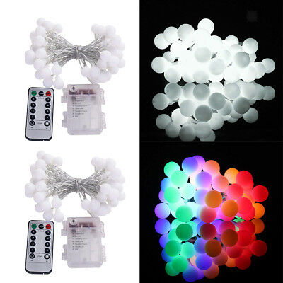 Round Ball Blubs Wedding Party Lamp Fairy LED String Lights Christmas 5M