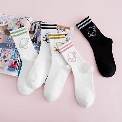 Girl Lady Glitter Women Funny Colorful Cotton Striped Harajuku Socks