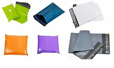 Coloured Mailing Bags Polythene Postage Strong Seal All sizes