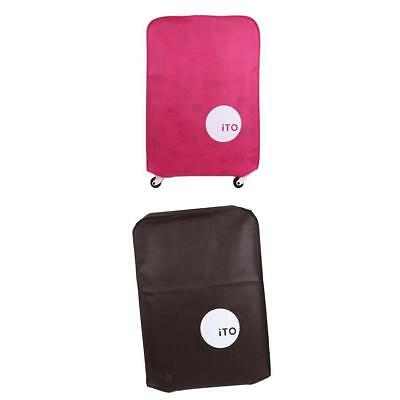 """2Pcs Dirtproof Protective Baggage Suitcase Cover Case for 20"""" 30"""" Travel Bag"""