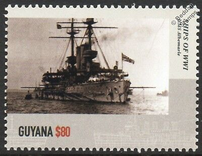 HMS ALBEMARLE (1901) Duncan-Class Pre-Dreadnought Battleship WWI Warship Stamp