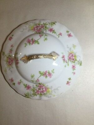 """Vintage Knowles/Taylor China Floral Lid 7"""" Round Serving Dish"""
