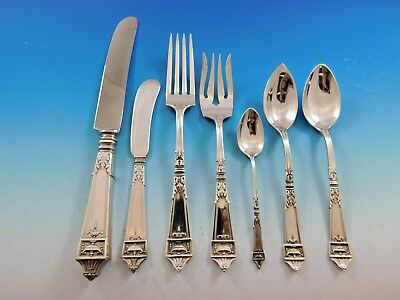 Lansdowne by Gorham Sterling Silver Flatware Service for 8 Set 63 pieces