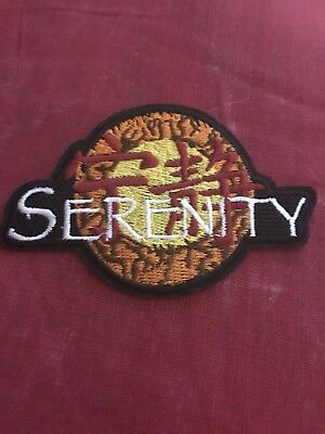 """Serenity/Firefly Logo Embroidered Patch 3.75"""" X 2.5"""" Iron Or See FREE Shipping"""