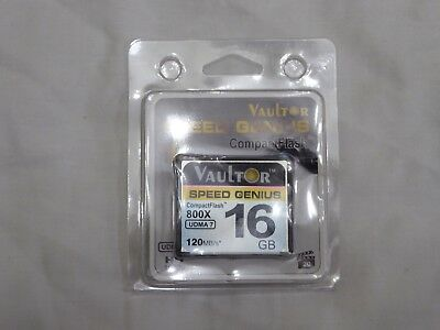 Vaultor 16Gb 800X Professional Extreme Compact Flash Cf Memory Card 120 Mb/s New