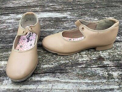 Capezio Girls Tap Dance Tan Shoes Size 12 1/2 M Youth