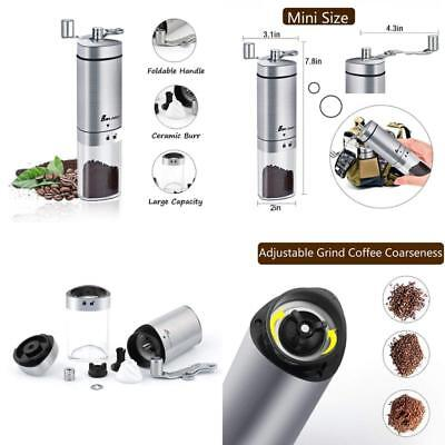 Manual Coffee Grinder, Boknight Coffee Mill With Conical Burr, Brushed Stainless