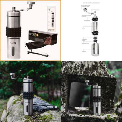 Proero Manual Coffee Grinder – Stainless Steel Coffee Hand Mill With Conical C