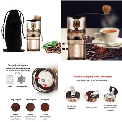 Manual Coffee Grinder Transparent With Adjustable Conical Ceramic Burr Mill For
