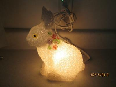 Vintage Jellied White Easter Bunny That Lights Up