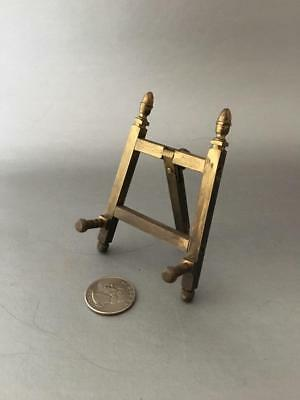 Vtg Art Deco Brass Miniature Picture Frame Table Art Easel Holder Display Stand