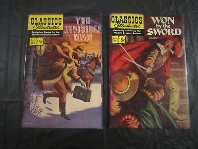 Classics Illustrated #153 and #151 - 1st prints 1959