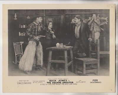 1920 Western Lobby Card - William Fox Presents Buck Jones In The Square Shooter