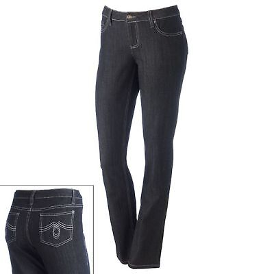 SO Skinny Jeans LOW RISE Juniors Size 13 Avg $36 BLACK Embroidered 5 Pocket NWT