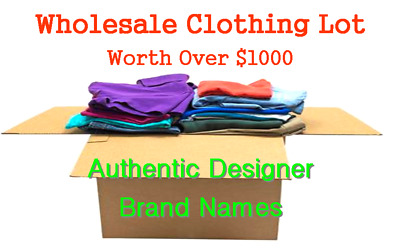 $1000 MSRP NEW Wholesale LOT Women's/Men's Clothing- Major Brand Names Designer