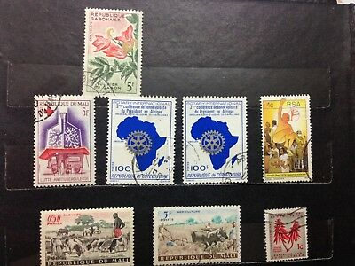 Africa stamps selection, over 20 marked and mint stamps