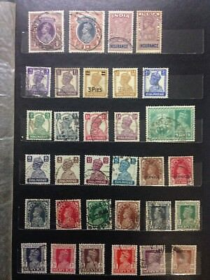 Old collection of India stamps, King George VI, service stamps and others