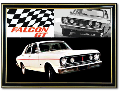 Metal Mirror Artwork A4 Suit Ford Falcon Xt Gt Enthusiasts