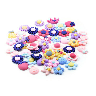 50PC Cute RESIN FLOWER CANDY FLATBACK CABOCHONS Embellishment Decoden Crafts