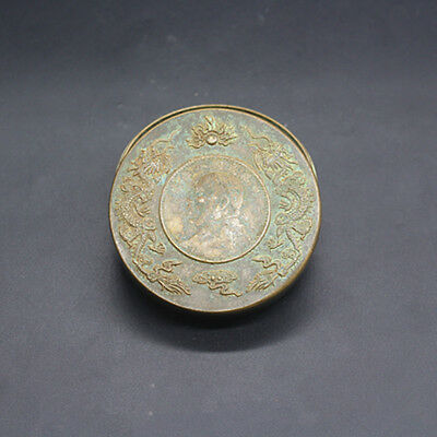 China bronze Antiques collect antique Dragon ink cartridges exquisite snuff box