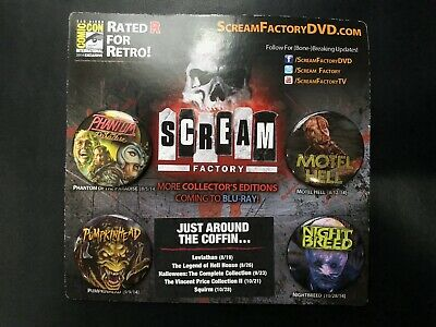 SDCC 2014 EXCLUSIVE Scream Factory Button Set of 4! Night Breed Pumpkinhead
