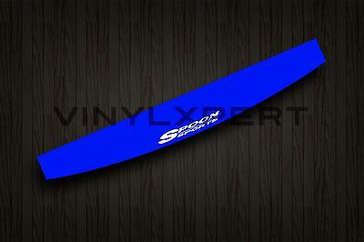 "48"" SPOON SPORTS BLUE VINYL Sticker Windshield Decal Banner EK EG EF Honda jdm"