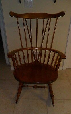 S Bent Bros Solid Rock Maple Colonial Style Boston Rocker