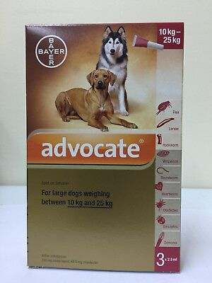 Advocate For Large Dogs Weighing 10-25 Kg 1 Box 3 pipettes x 2.5ml + Tracking