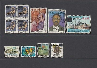 Ghana - 11 used stamps - ( Lot 177 )
