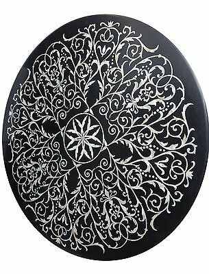 Table Top Marble  Center Dining  Round Stone Vintage Beautiful Decorative