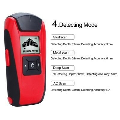 Metal Detector Wood Finder Home Wall AC Scanner Sensitive Deep Meter