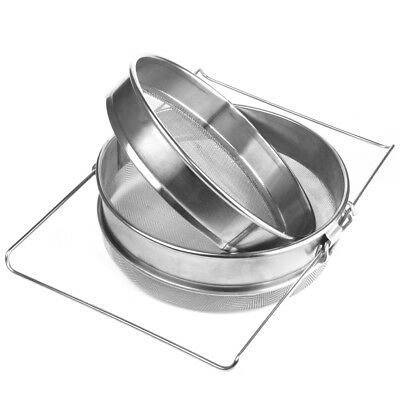 Stainless Steel Beekeeping Double Honey Strainer Filter Apiary Supplies