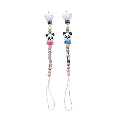 Panda Toddler Baby Pacifier Clip Chain Holder Soother Nipple Strap 8C